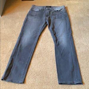 Men's Lucky Brand Gray Jeans. Size 33W 32L.